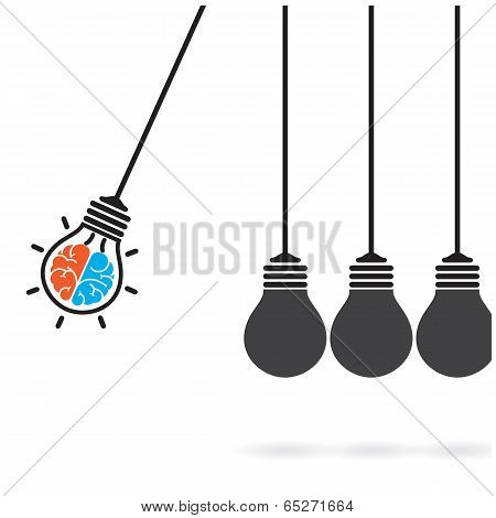 Light Bulb Idea Concept,business