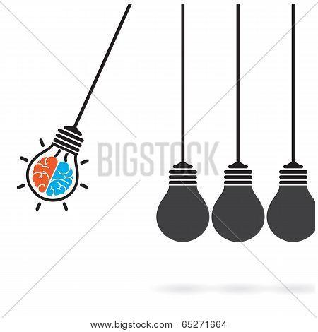 Light Bulb Idea Concept,business