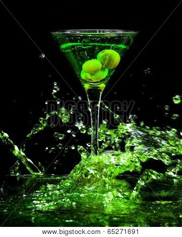 colourful coctail on the black background