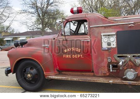 1951 Chevy Fire Truck Close Up