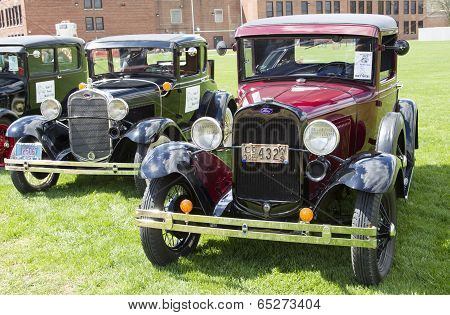 1930 Fords Lined Up