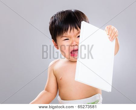 Little boy hate book