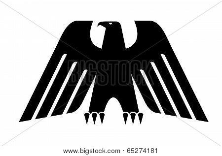 Heraldic black eagle