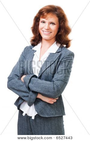 Happy Positive Business Woman