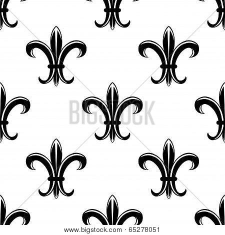 Retro fleur de lys seamless pattern