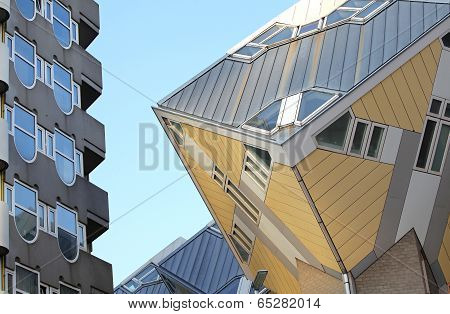 The Cube Houses In Rotterdam, Netherlands