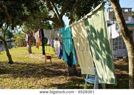 Outside Clothesline