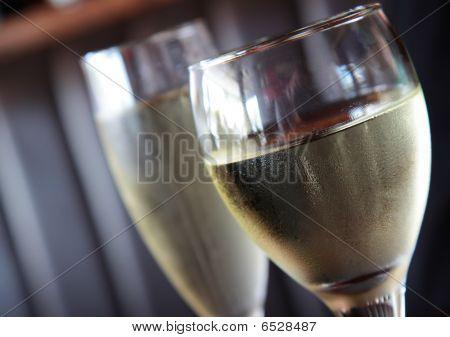 Vinho branco.