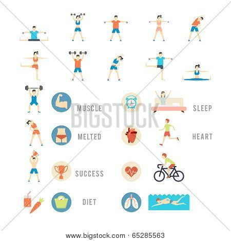 Sports and Health People Illustrations