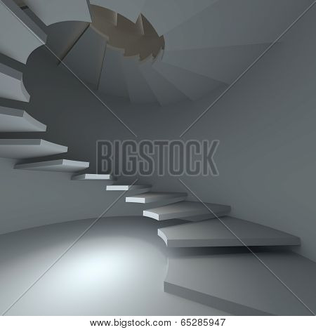 Helix, Spiral Staircase. The Concept Of Climbing