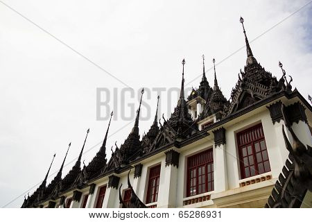 Loha Prasat (Metal Castle) at Wat Ratchanaddaram