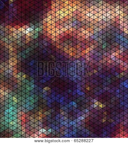 Abstract triangle hexagon pattern