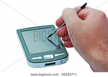 Hand And Pda Phone