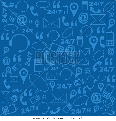 Contact Us Background Pattern Blue