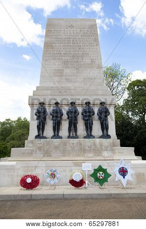 LONDON, UK - MAY 14, 2014 - The Cenotaph War Memorial in Whitehall, London on 15th May 2014.
