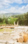 pic of minos  - view of ancient ruines of Knossos palace at Crete - JPG