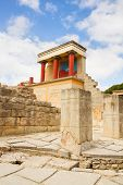 foto of minos  - ancient ruines of Knossos palace at Crete - JPG