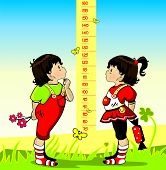 picture of measuring height  - Baby height measure  - JPG
