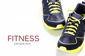 foto of relay  - Sport shoes on white background - JPG