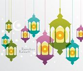 stock photo of hari raya  - Vector Muslim Oil Lamp Graphics - JPG