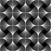 picture of uncolored  - Design seamless swirl movement geometric pattern - JPG