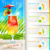pic of cocktail menu  - Booklet template with infographic elements  - JPG