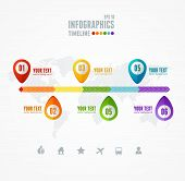 stock photo of year end sale  - Vector Timeline Infographic - JPG