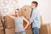 Moving House: Man And Woman With Box