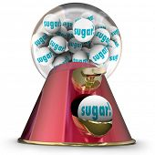 picture of gumball machine  - Sugar word gum balls candy dispenser gumball machine - JPG