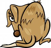 picture of emaciated  - Cartoon Vector Illustration of Poor Homeless Dog - JPG