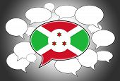 image of burundi  - Speech bubbles concept  - JPG