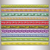 stock photo of tatar  - Ribbon motif Tatar ornament  - JPG