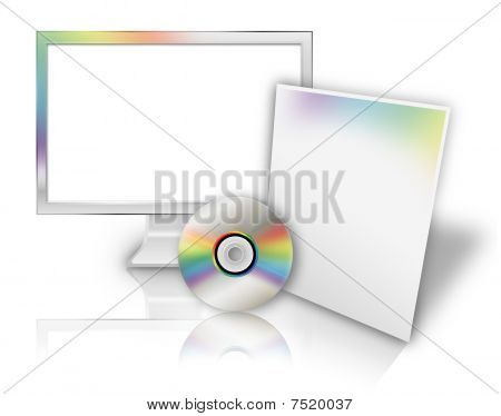 Blank Computer Technology Software Template