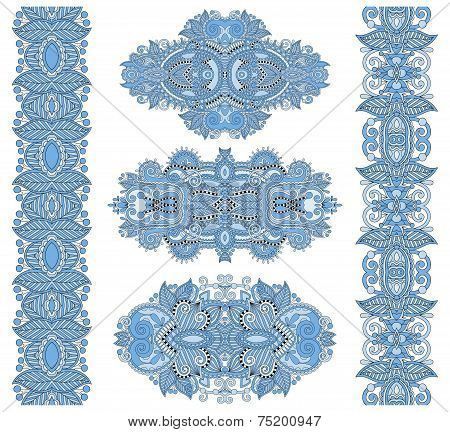 ornamental floral adornment of blue colour
