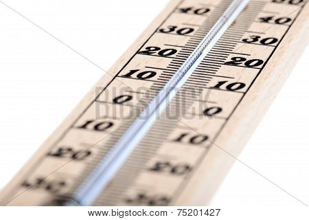 Wooden Thermometer With Celsius Degree Scale