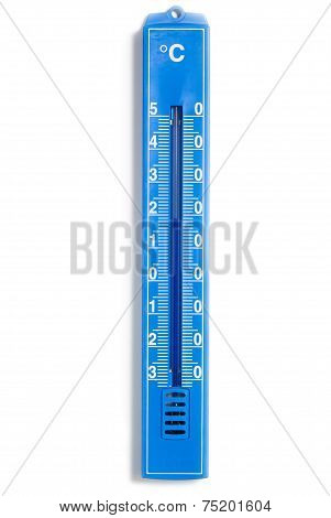 Blue Analog Thermometer