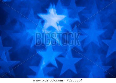 blue stars shape photo as background