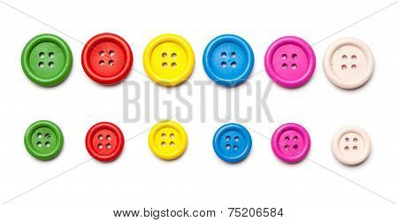 Set Of Clothing Or Sewing Buttons
