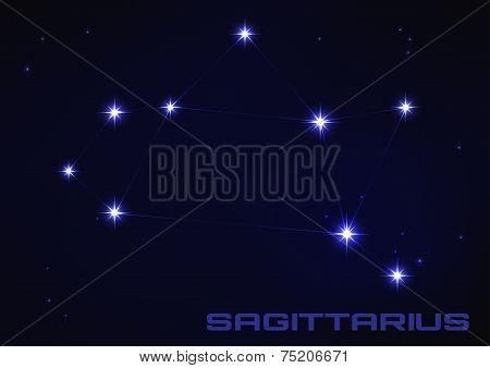 illustration of Sagittarius constellation