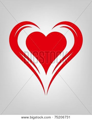 red winged tribal heart