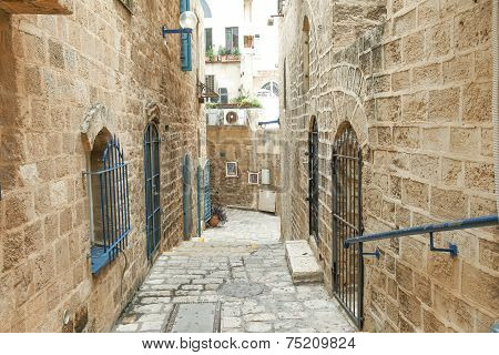 Typical view of Jaffa's narrow old alley