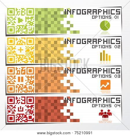 QR Code Business Infographic Banner And Background