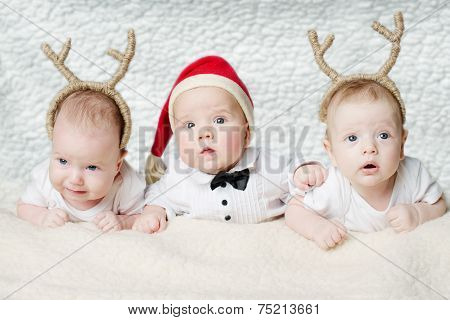 cute babies with deer horns