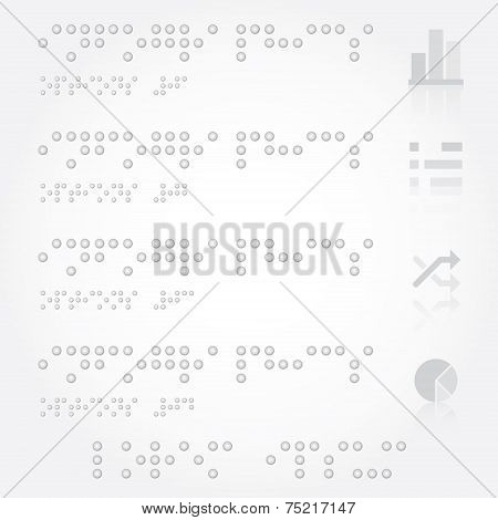 Braille Business Infographics With Paper Dot Style