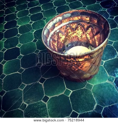 Oriental Tealight Decorating A Table