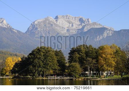 Lake Of Annecy And Tournette Mountain, In France