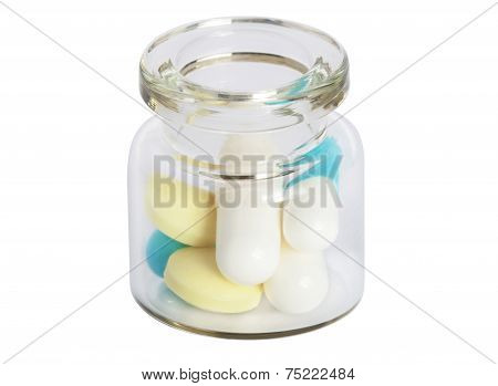 Glass Jar With Pills