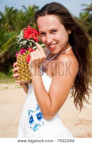 Alluring Woman With Cocktail