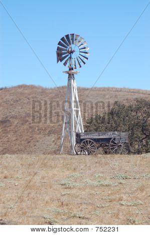 Abandon Windmill And Wagon