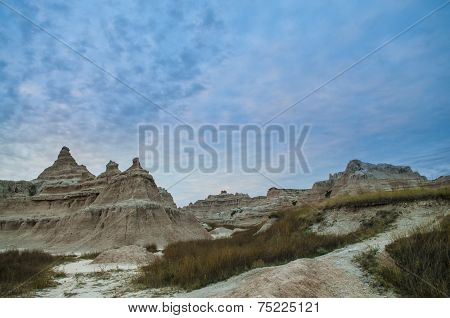 Sunrise Near Big Badlands Overllook National Park South Dakota